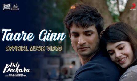 Taare Ginn Lyrics Dil Bechara